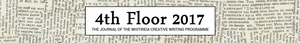 4th Floor title on newspaper background